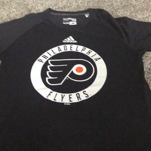 Adidas Philadelphia Flyers shirt sleeve black tee